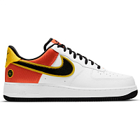 Nike AIR FORCE 1 07 LV8 WHITE/BLACK-ORANGE FLASH-AMARILLO